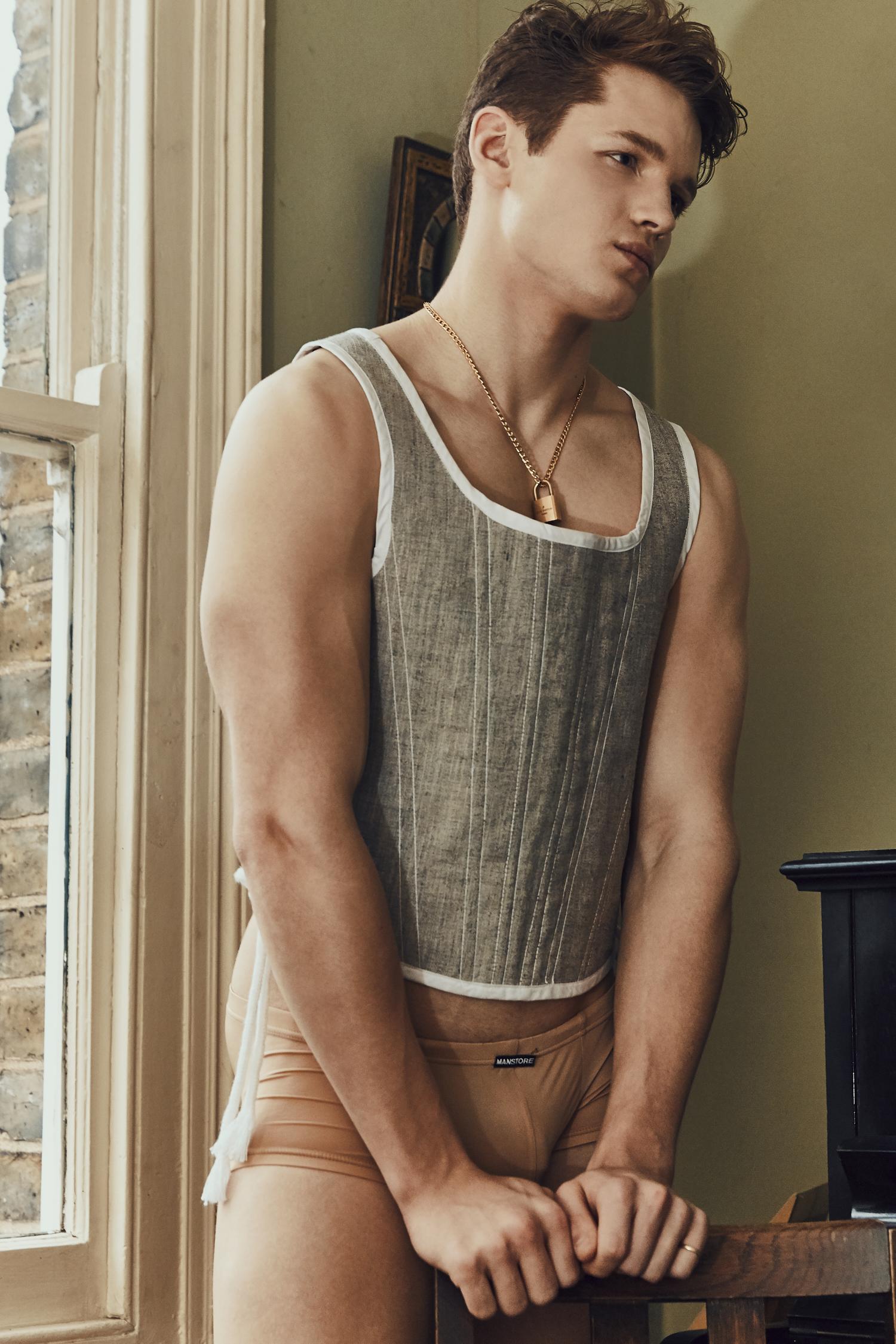 Top -  Daniel W. Fletcher , Briefs -  Manstore , Necklace - Models Own