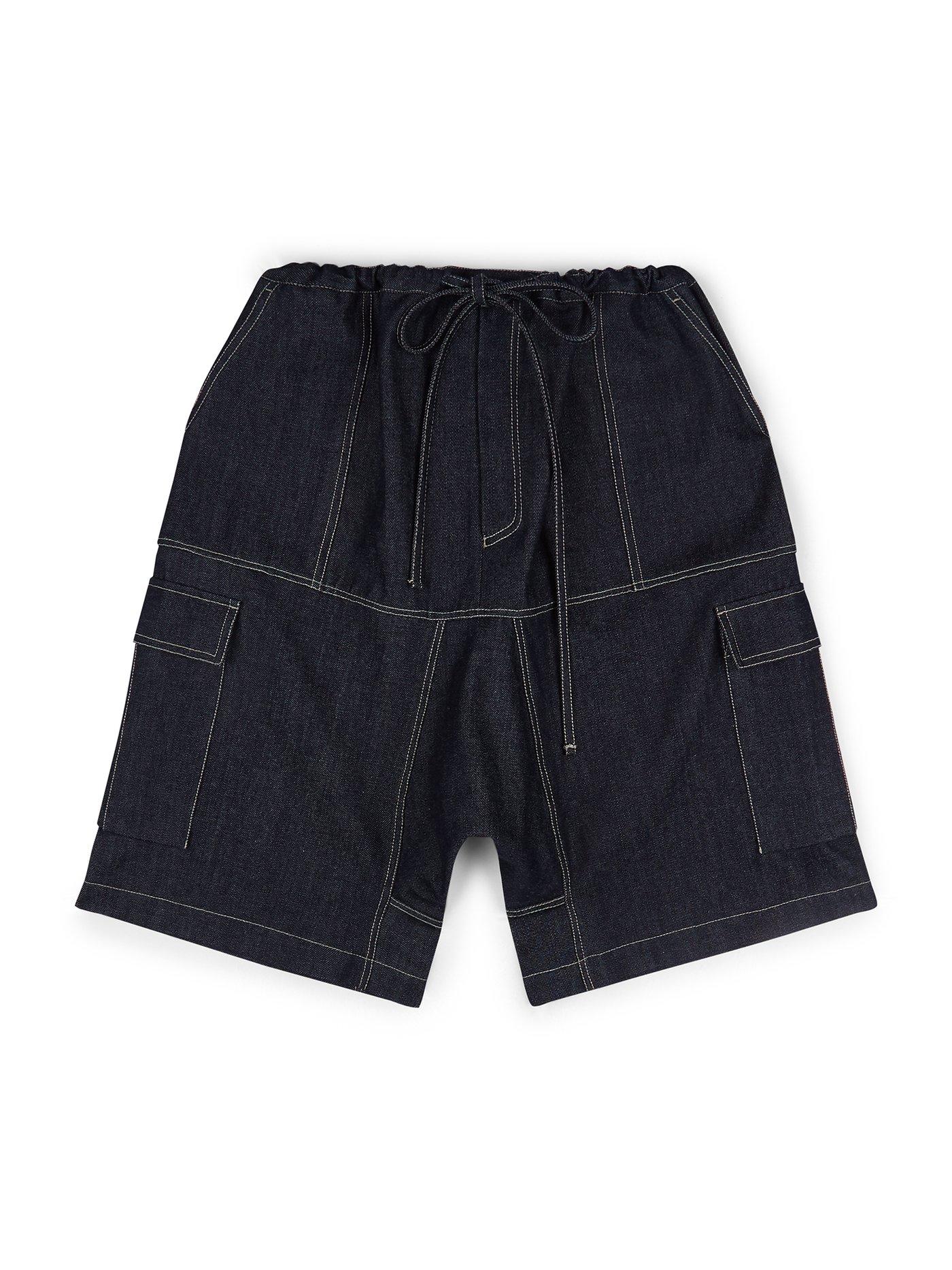 E Tautz Rupert shorts - £215 - A superb update of school boy shorts, cut from dark indigo denim and oversized for a modern and wearable look