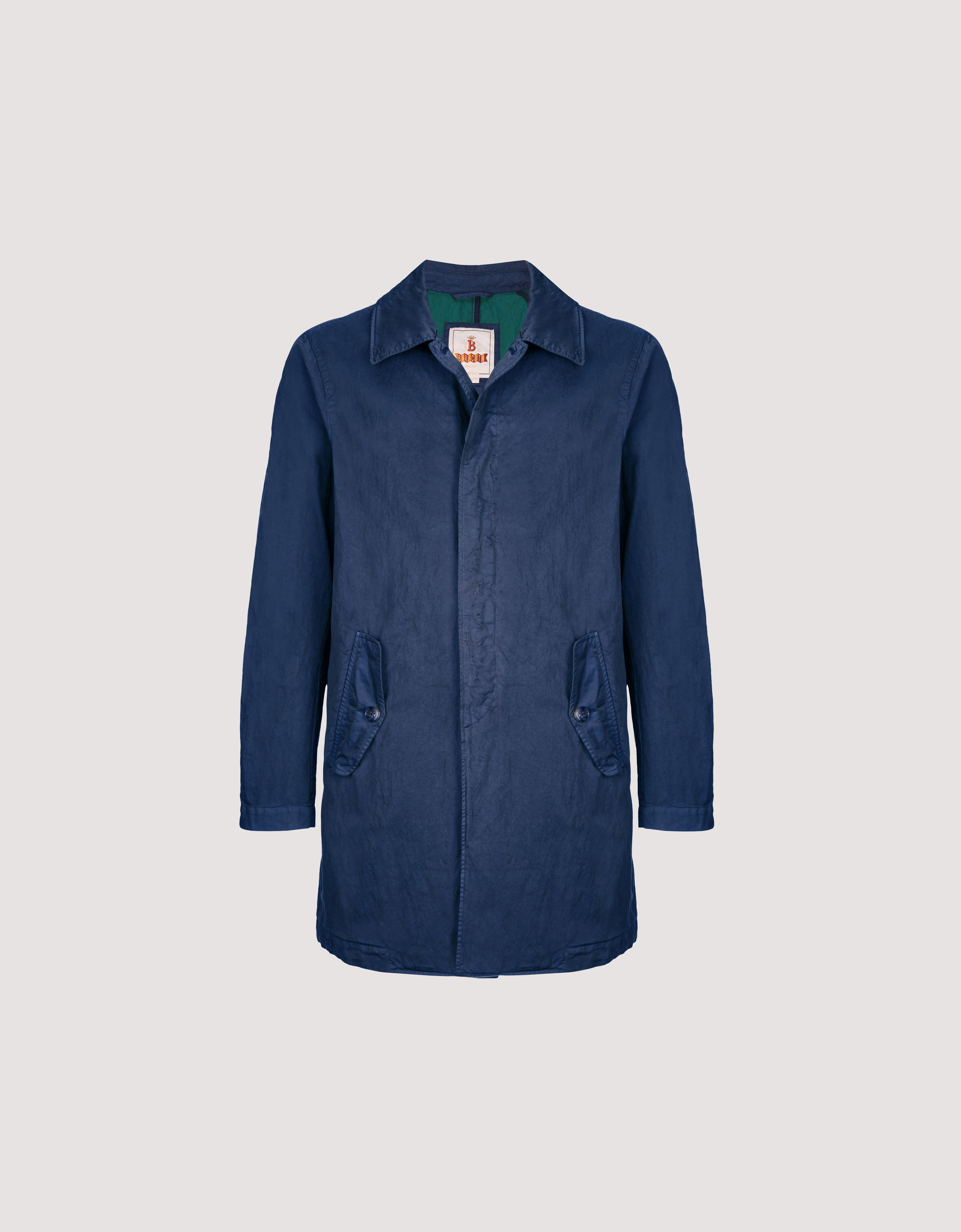 Baracuta overcoat - £475 - Make an impression with this double-dyed overcoat, which has a rakish shimmery effect