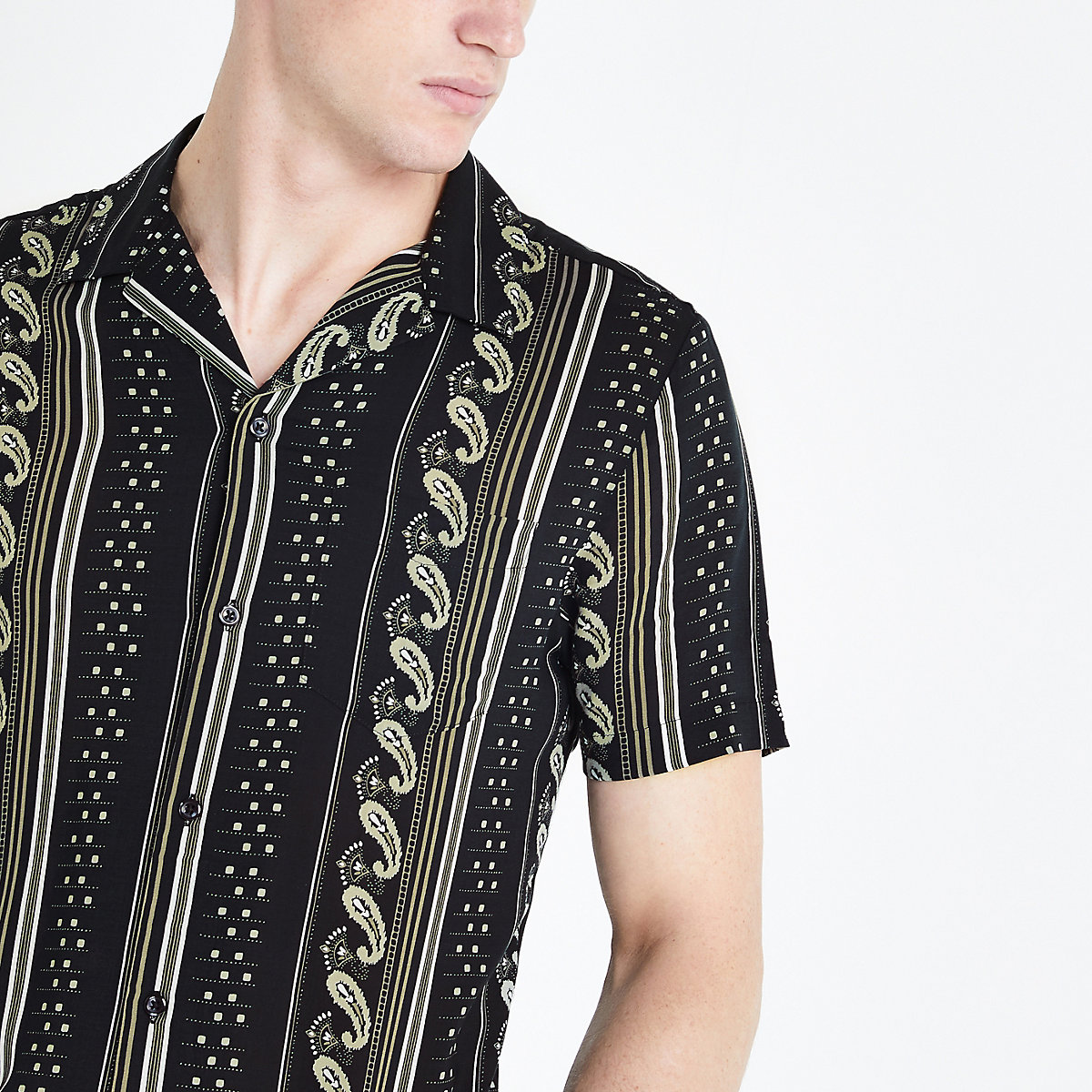 River Island short sleeve shirt - £25 - Although if you are going out, opt for a shirt from River Island's huge selection of great printed short sleeve designs