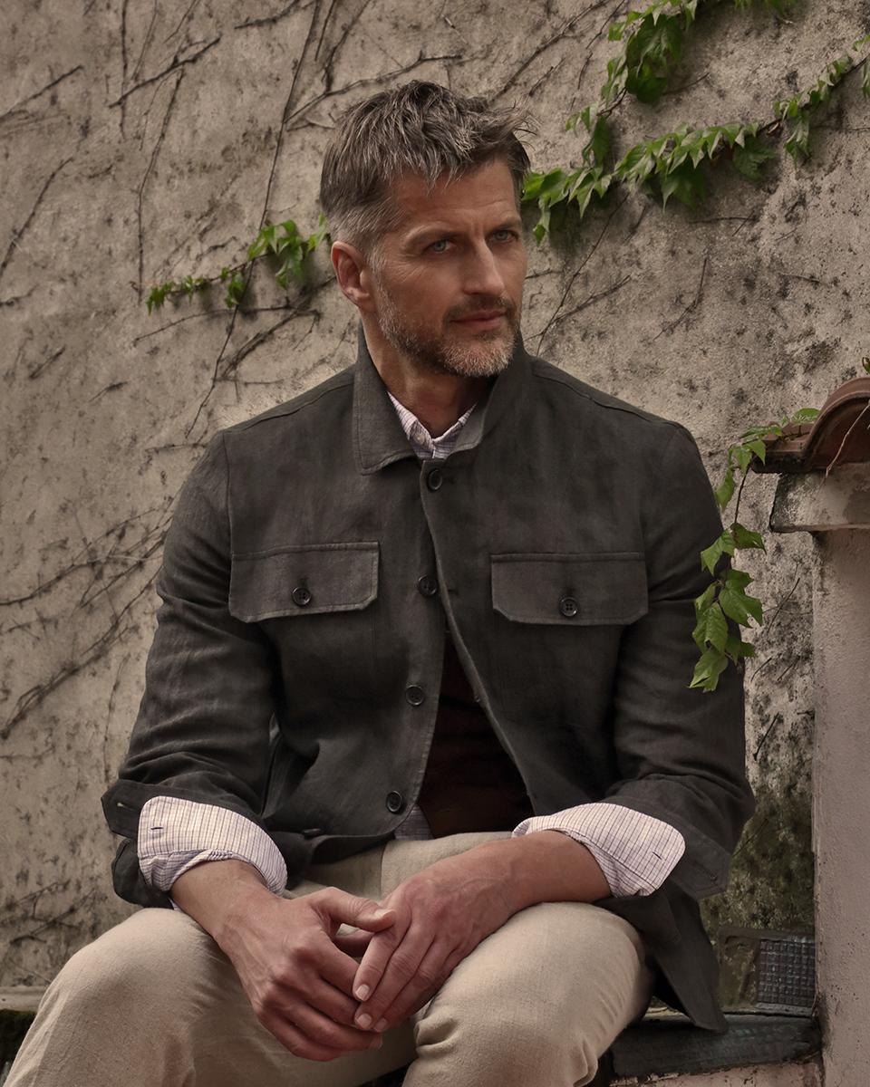 Jacket & trousers -  Drumohr , Shirt -  Brooks Brothers