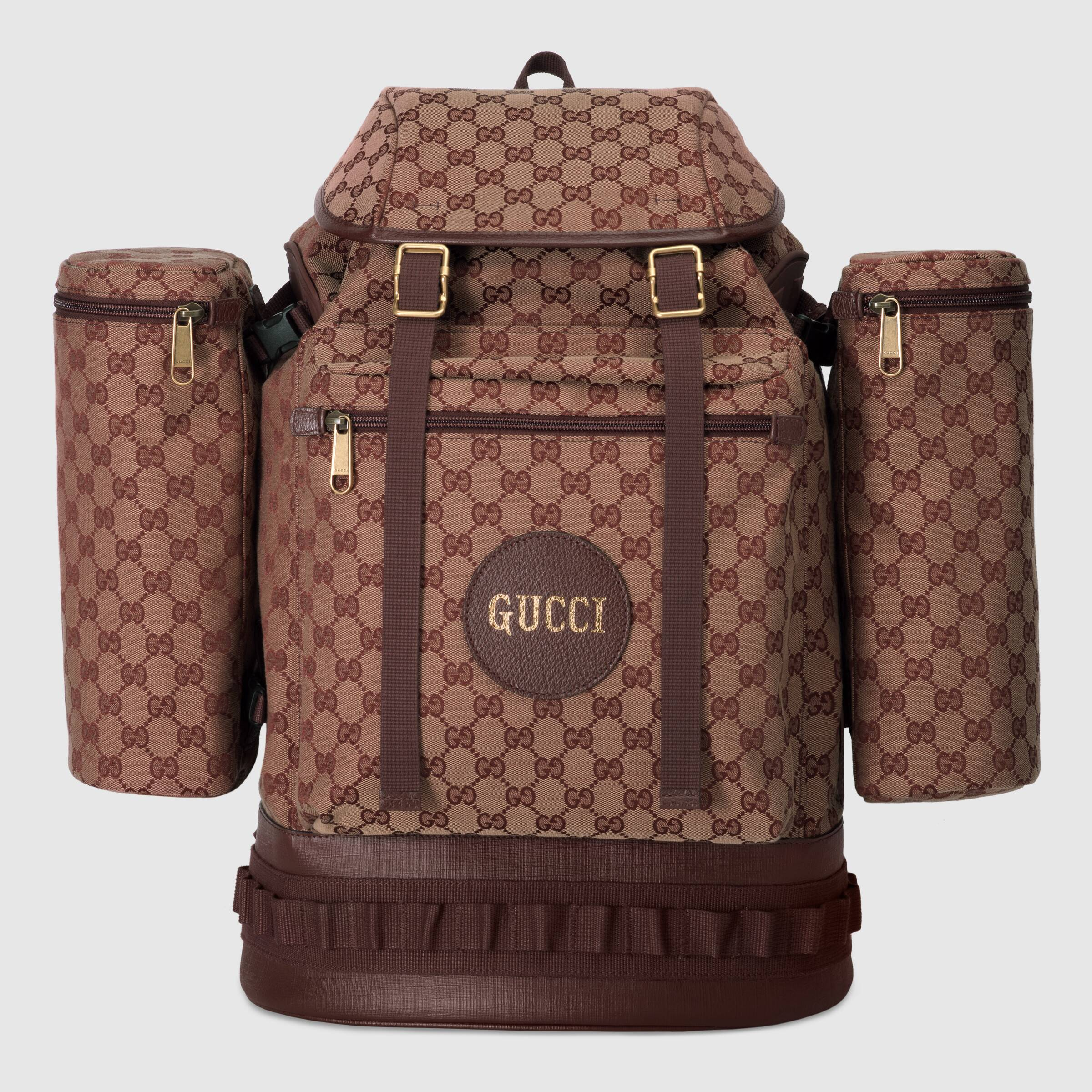 Gucci large canvas backpack - £1,770 - For those that feel the need to carry everything (including the kitchen sink) with them at all times