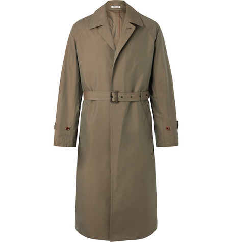 Auralee cotton-garbadine trench coat - £930 - Slim in design but roomy enough to wear over relaxed tailoring