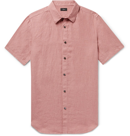 Theory linen shirt at Mr Porter - £135 - Linen is the must have shirt fabric for the summer. This shade goes perfectly with dark denim or white jeans (if that's your kind of thing)