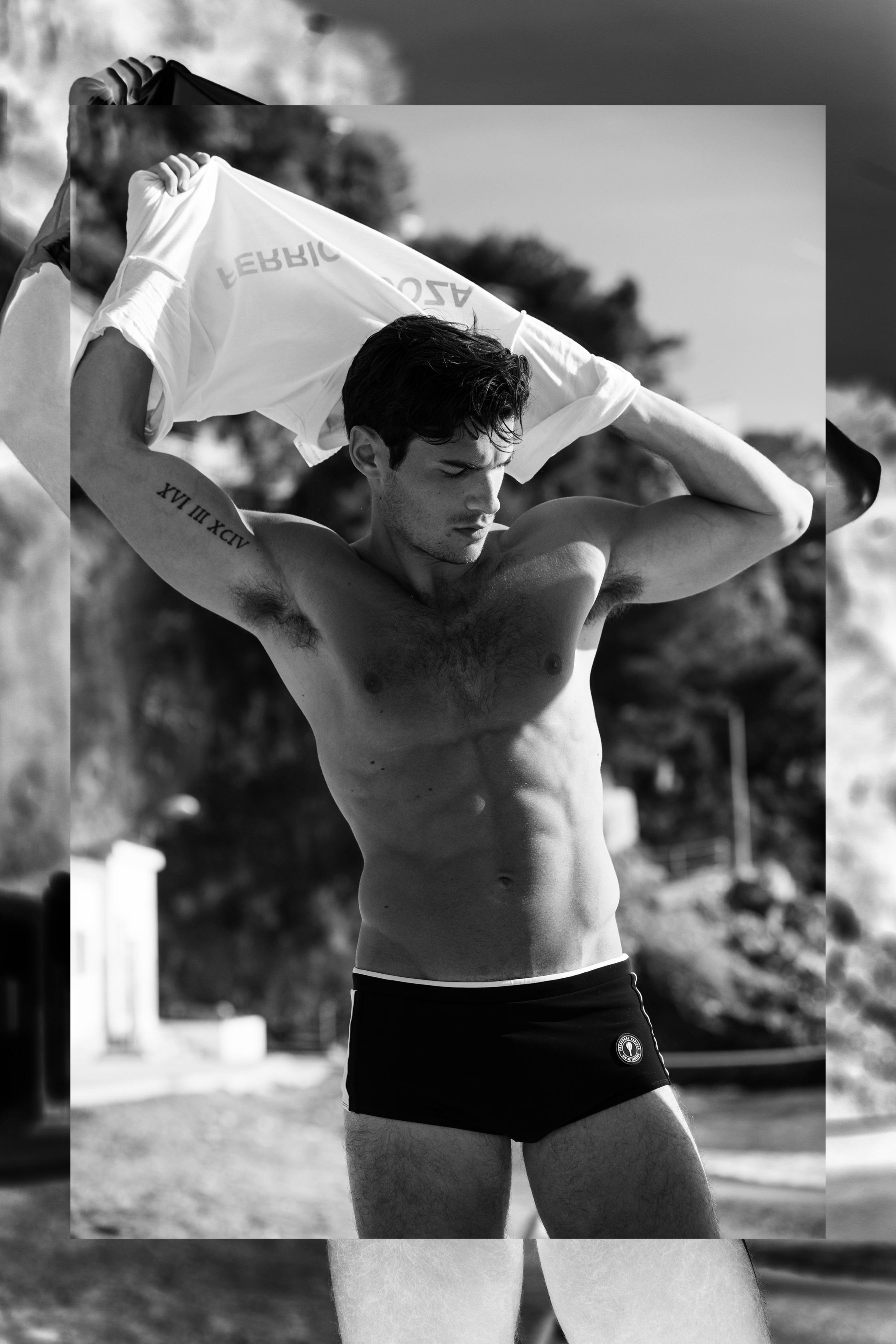 Paul wears  Polari  T-shirt &  Frescobol Carioca  swimwear