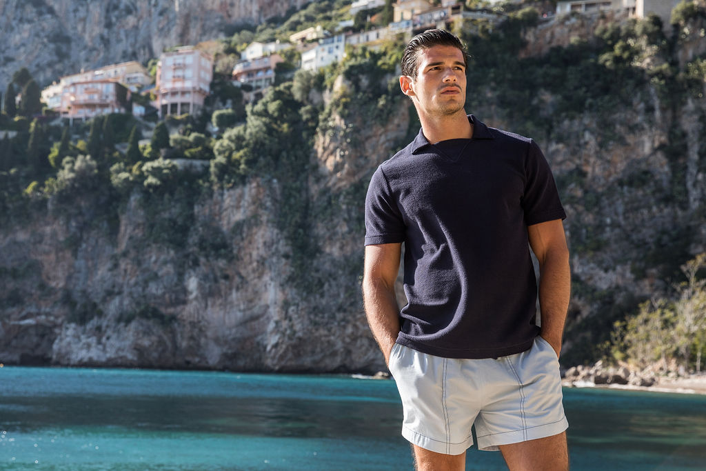 Paul wears  Les Basics t op shirt &  Weekday  shorts