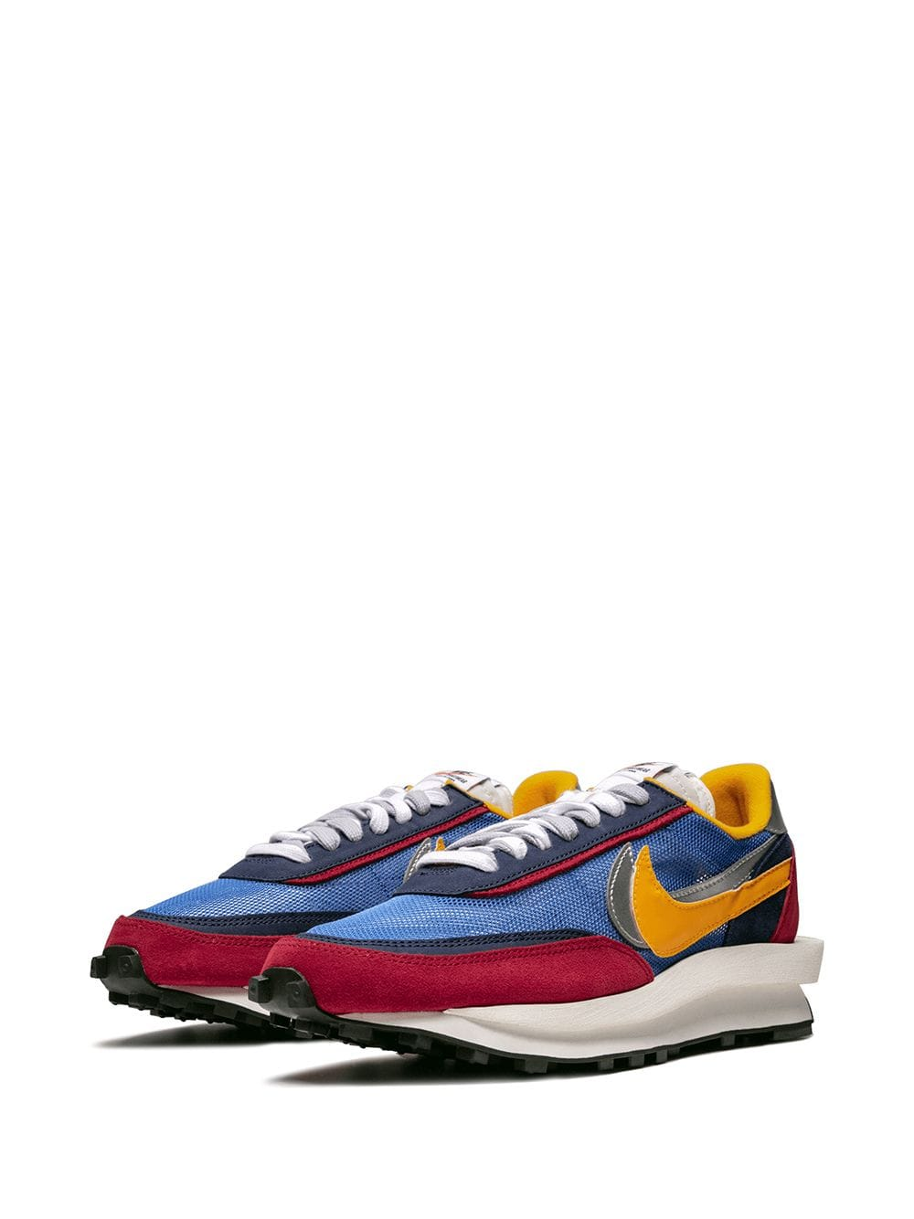 Nike x Sacai sneakers at Farfetch - £1,078 - The fashion crowd went crazy for these sneakers when they were first unveiled last season. You can see why. Double ticks and double tongues.