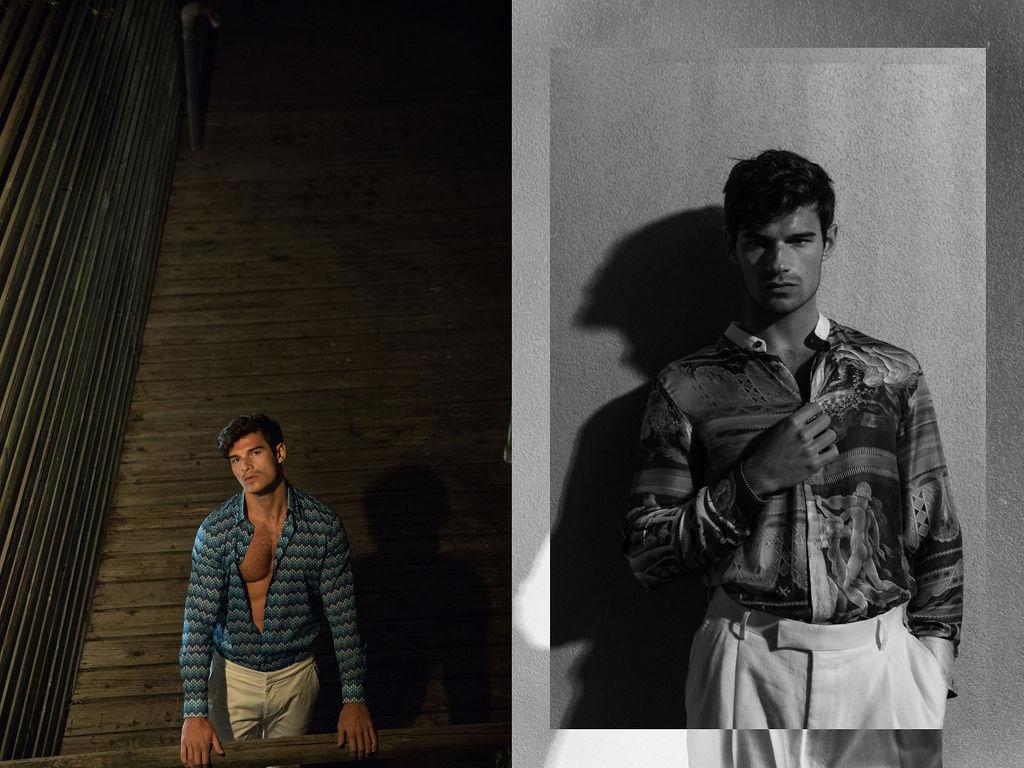 Paul wears  Vilebrequin  shirt and  Orlebar Brown  trousers/  Tiger of Sweden  shirt &  Orlebar Brown  trousers