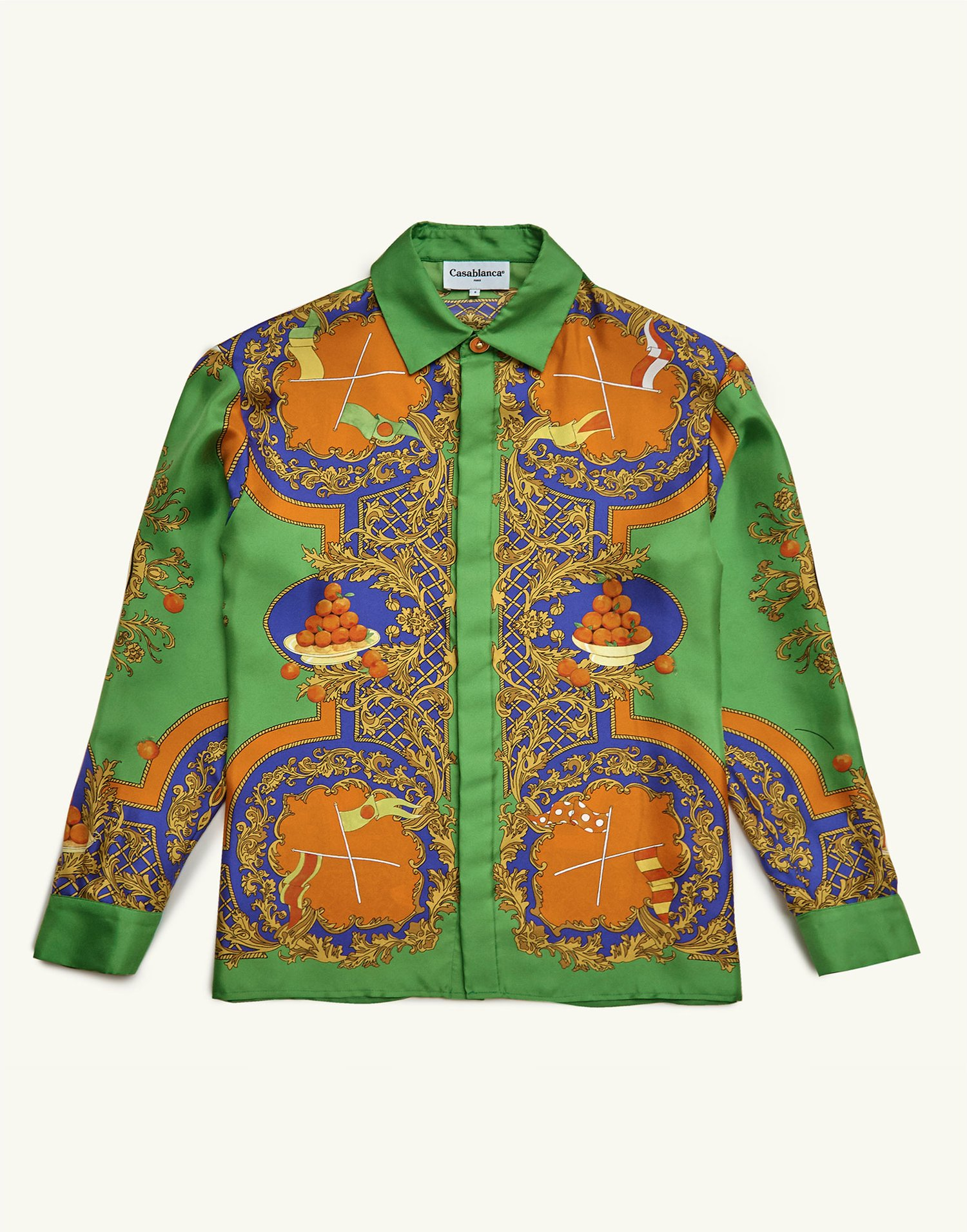 Casablanca shirt - €600 - This would look incredible with white speedos at Club Tropicana where drinks are free