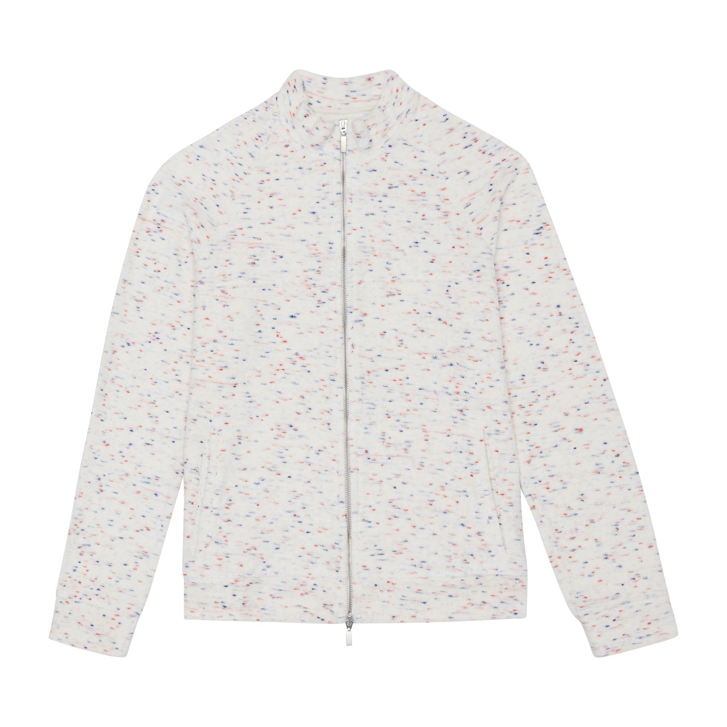 Prévu jacket - £100 - Part of the new season collection, with the towelling fabric flecked with red and blue