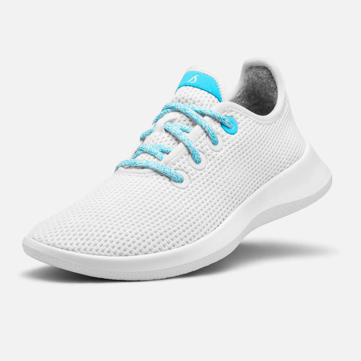 Allbirds sneakers - £95 - Special edition sneakers, reinterpreting Allbirds' Tree Topper and Tree Runner trainers with the JUST Water blue into various elements of the shoes, including the laces, tabs, eyelets, and SweetFoam™ soles