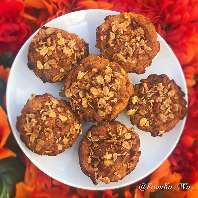 Despite the weather, it's technically still Fall until tomorrow lol. So, here are my P.B. & A. Muffins (Pumpkin Banana and Apple)! The last fall themed recipe. Link in bio 🍁🍂