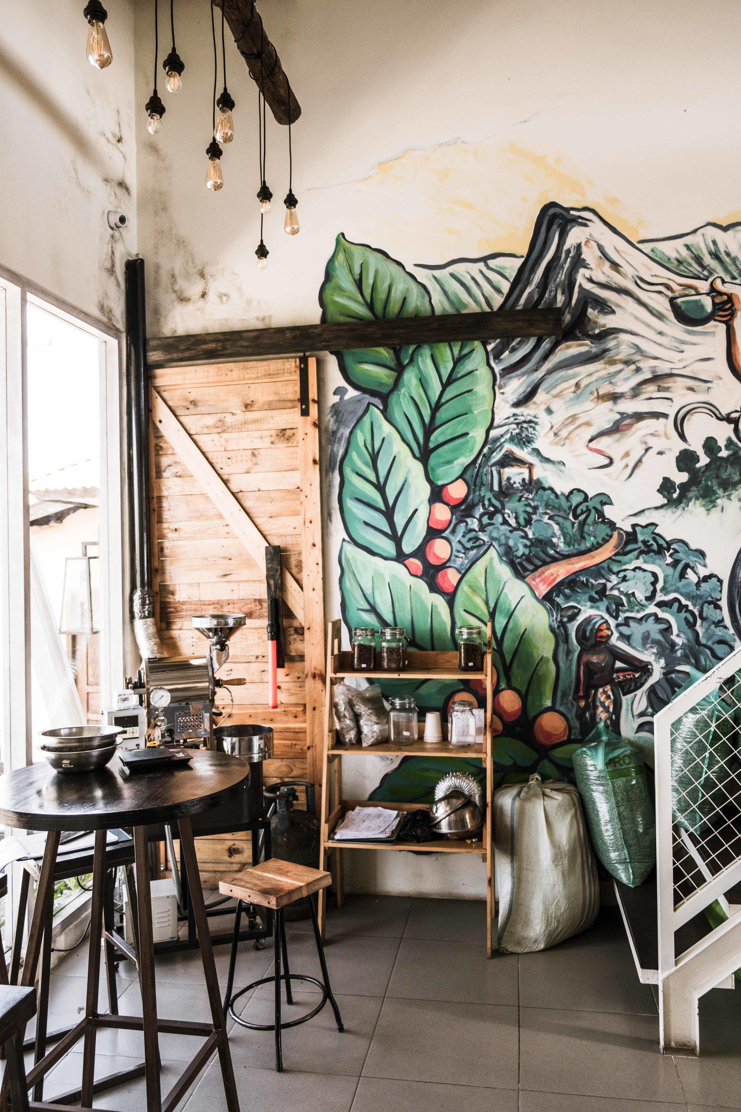 Interior Kintamani Coffee Mount Batur