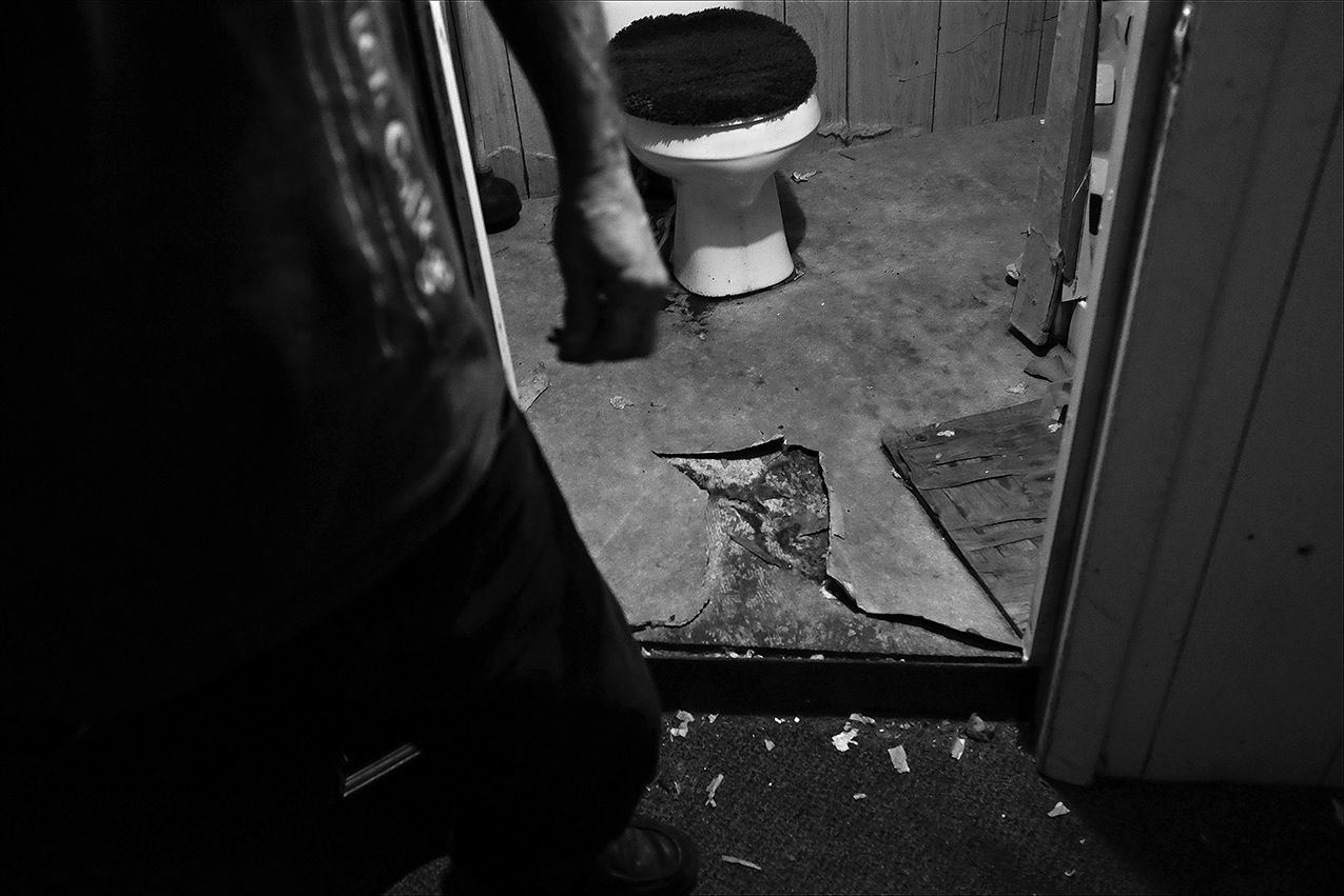 December 2016: For months, only one of two community bathrooms was in working order in Dennis' apartment house, shared by seven units. Dennis said in one 10-day period, both bathrooms were unusable after water pipes in the building froze. Human excrement and urine were left in the toilet bowls, attracting cockroaches.