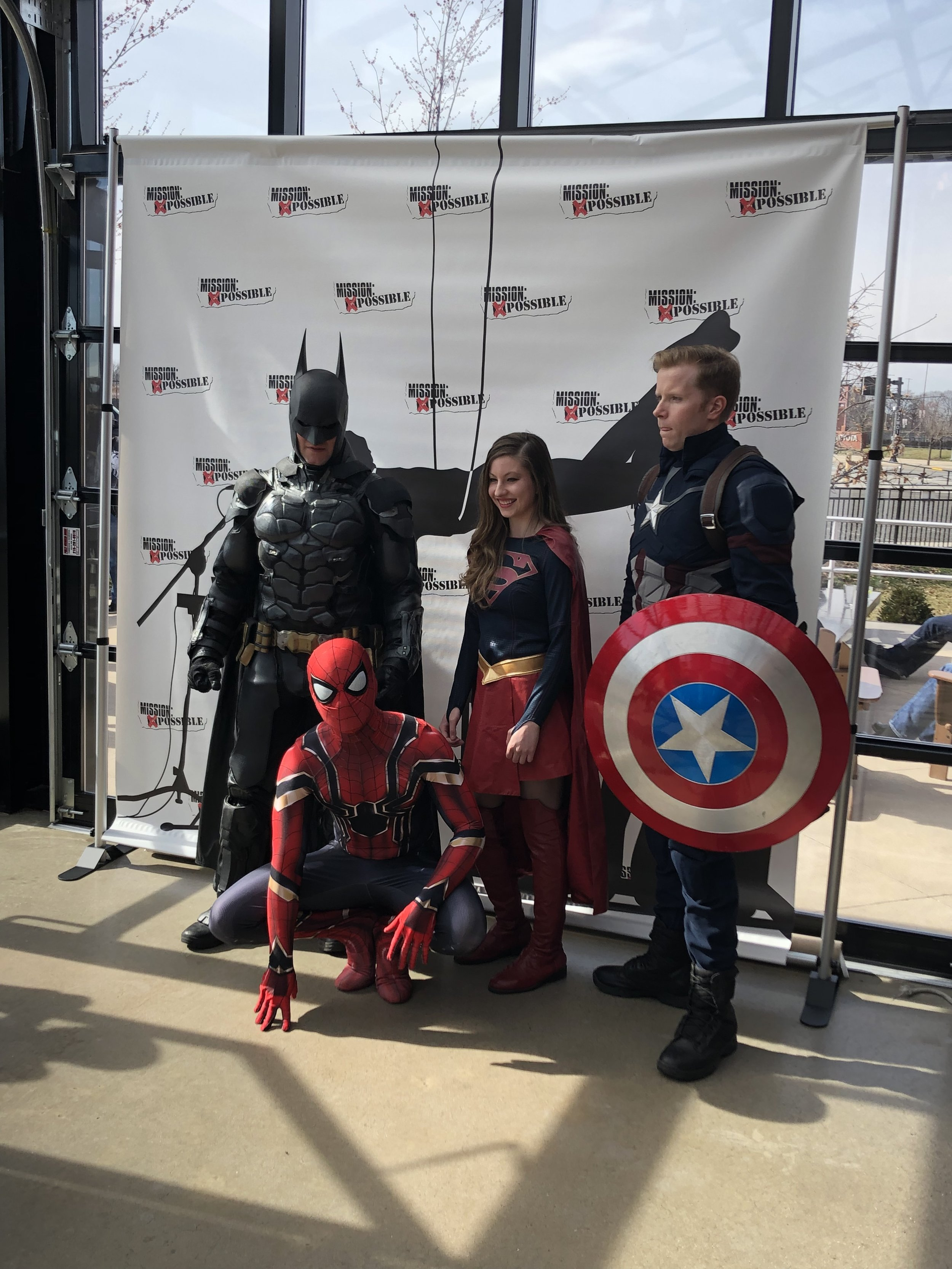 Batman, Spiderman, Wonder Woman, and Captain America stopped by!
