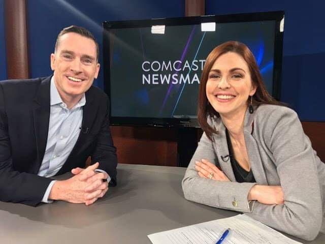 Jason Duff with Jill Horner from Comcast Newsmakers