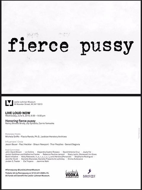 LIVE LOUD NOW - HONORING FIERCE PUSSY
