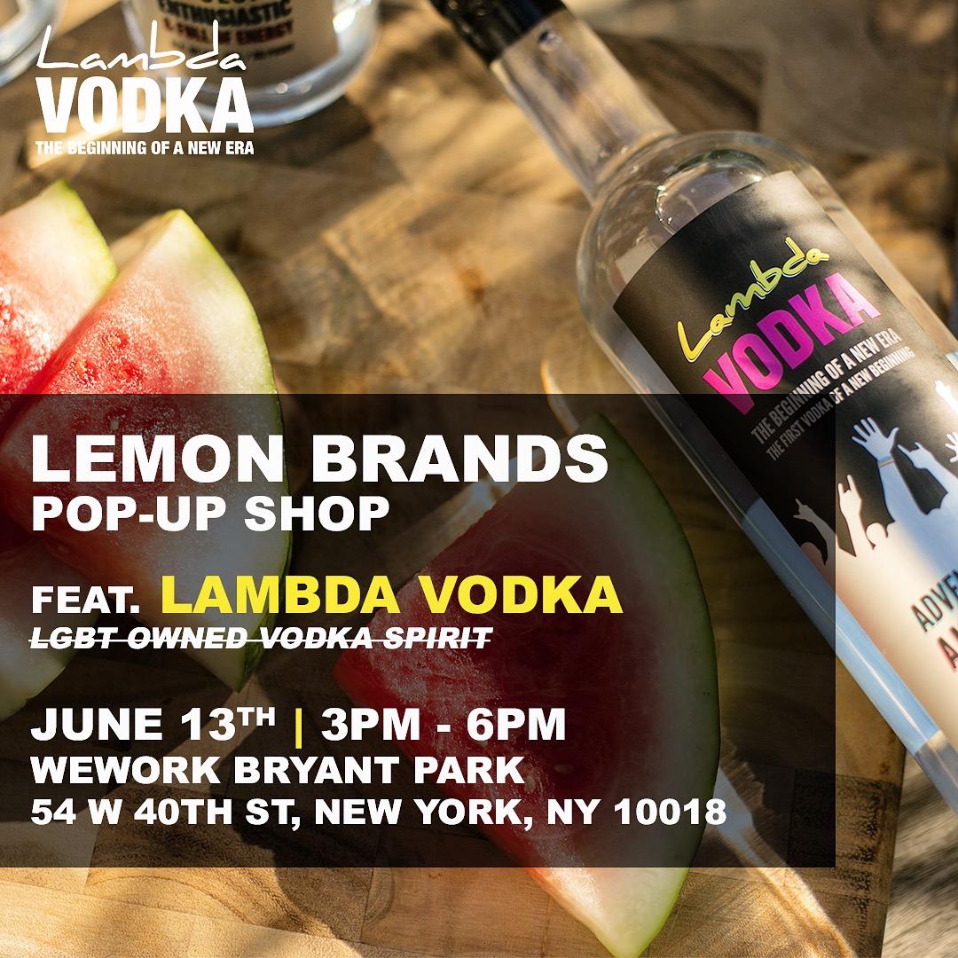 Lemon brands pop-up shop - weworks bryant park