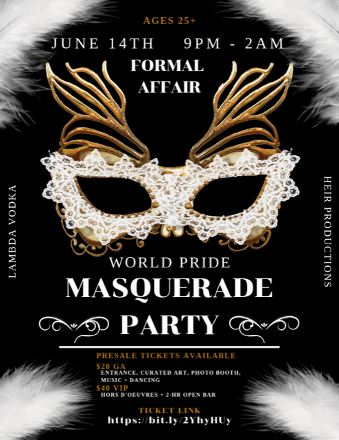 World Pride MASQUERADE party - a lambda vodka/heirs production partnership