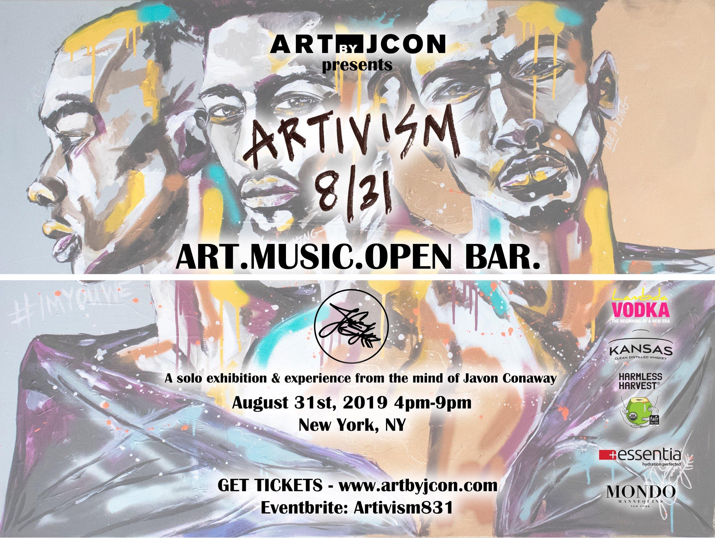 artivism by jcon - art, music and open bar