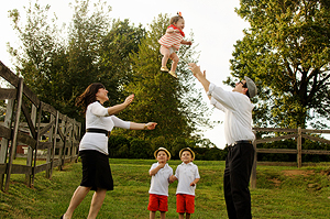 """""""Yehudis put the whole family at ease with her personality and sense of humor. She also got incredibly creative shots of our family!"""" - – Sicherman Family"""