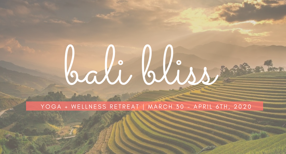 Bali Bliss Retreat 2020