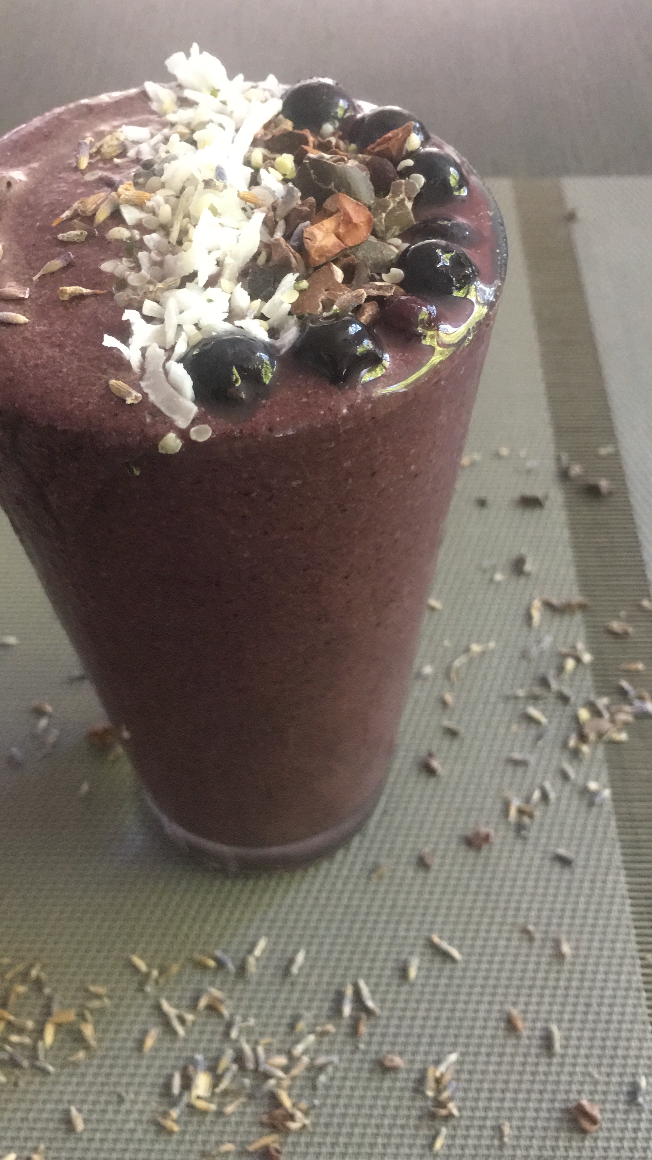 I truly think this is the best smoothie I've every free-hand created. Just inspired by that blueberry lavender milk!