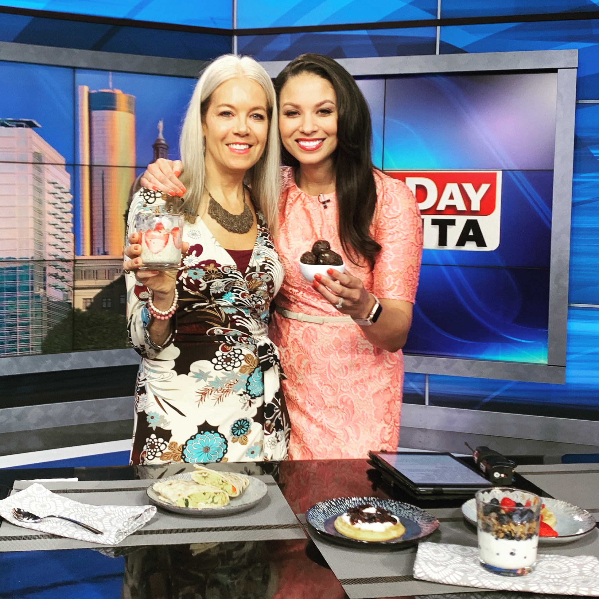 Talking about healthy breakfast options for the kiddo's with Aylse Eady on Good Morning Atlanta Fox 5/WAGA this morning!