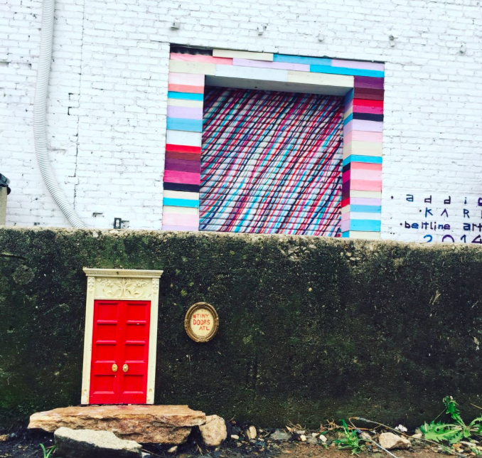 I mean, how stinking cute are these Tiny Doors we have all over our city? I love how creative Karen is!