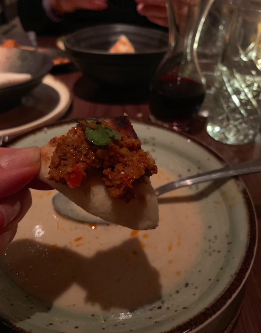 My first bite of Muhammara at Leyla, NYC. Dear GAWD why have I never had this before?!?