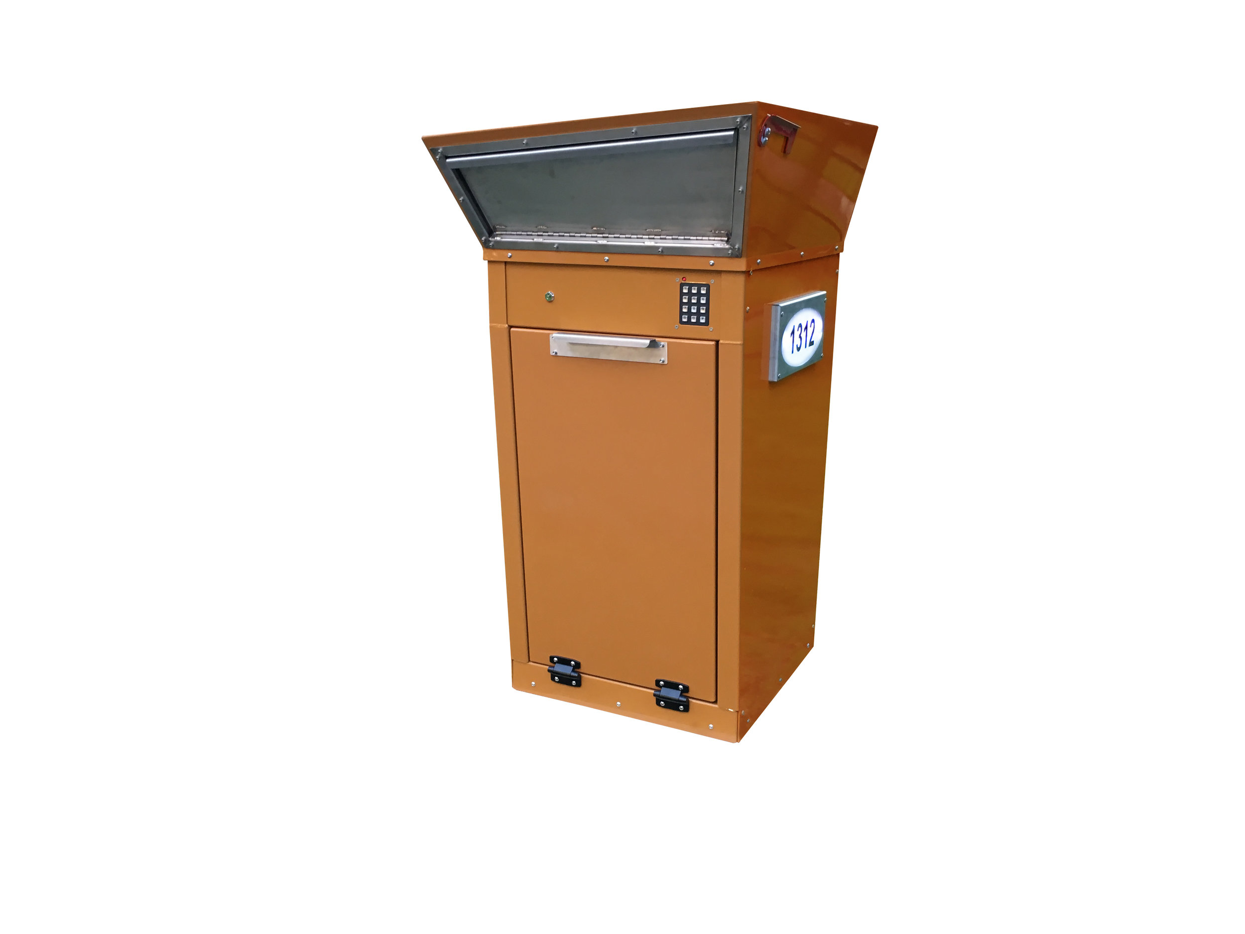 custom finishes and anti-theft mailbox accessories are also available as pictured above. standard powder coat finishes include satin white, satin black, textured copper vein and textured red copper.