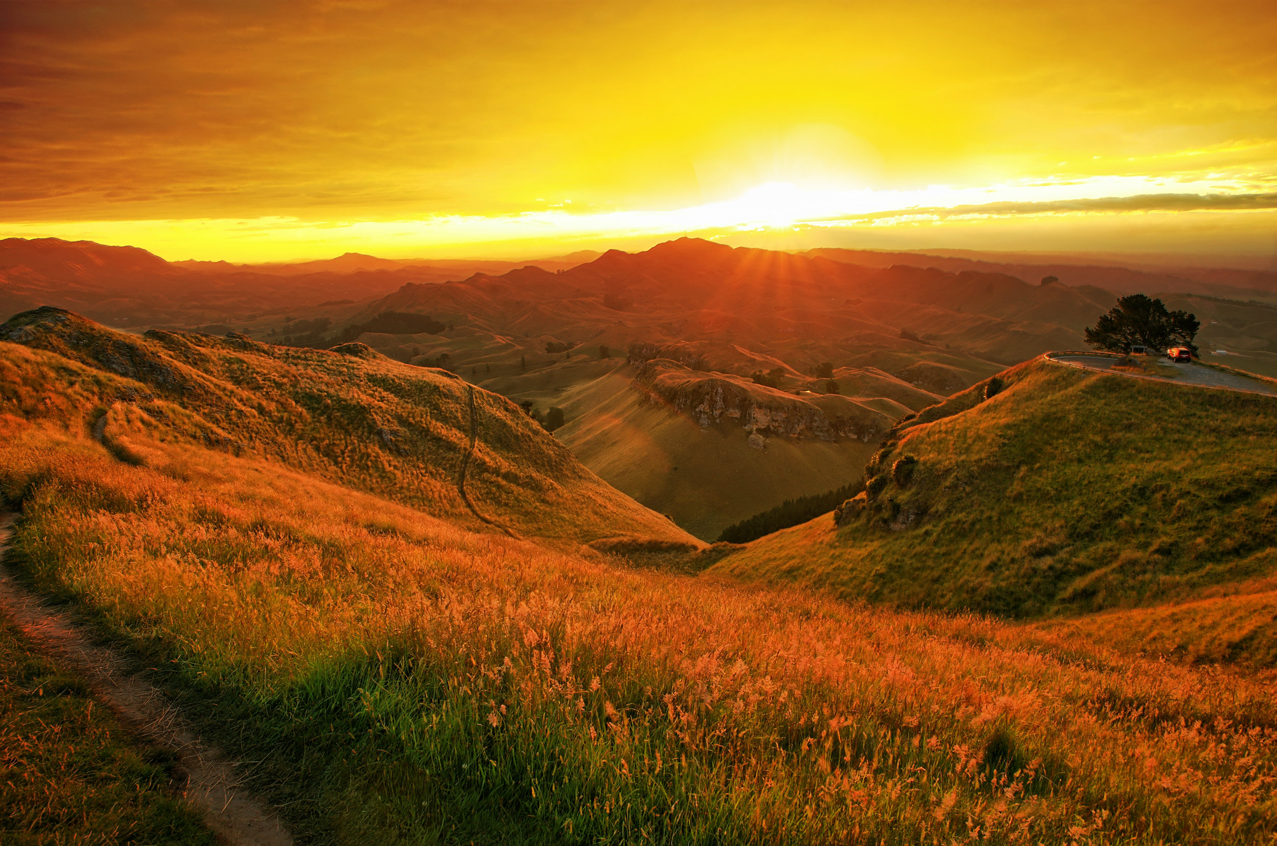 Te Mata Peak Sunset