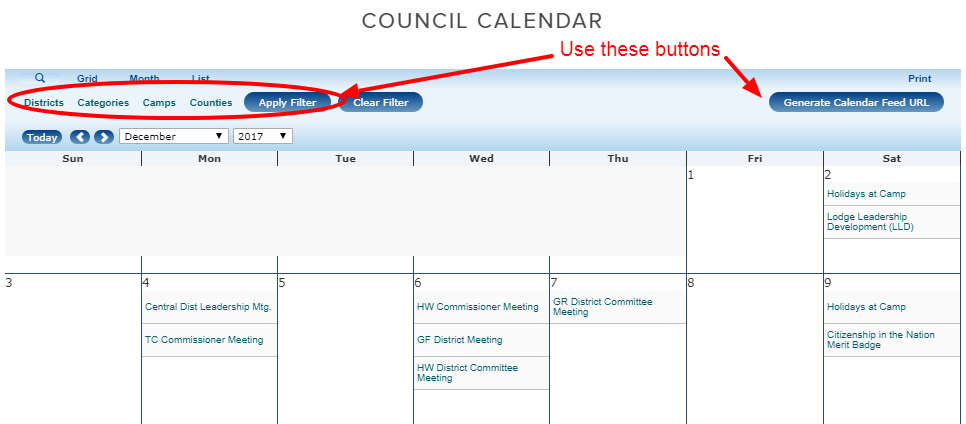 Calendar — Lake Erie Council  BSA.png
