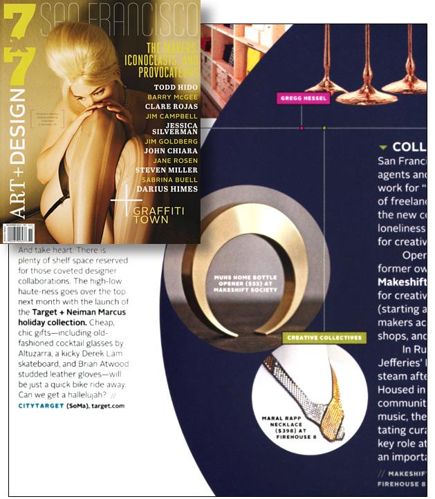 7x7 San Francisco Magazine, 11/12, Art+Design Issue