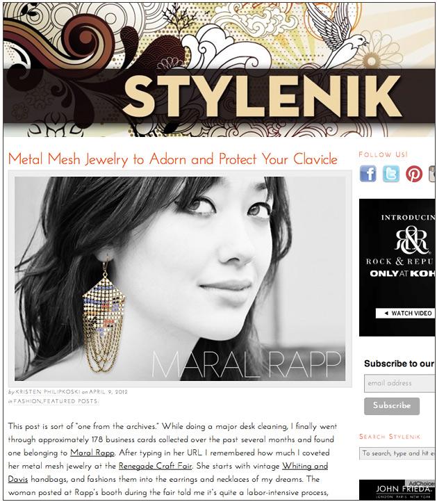 Stylenik, 04/12, editor: Kristen Philipkoski