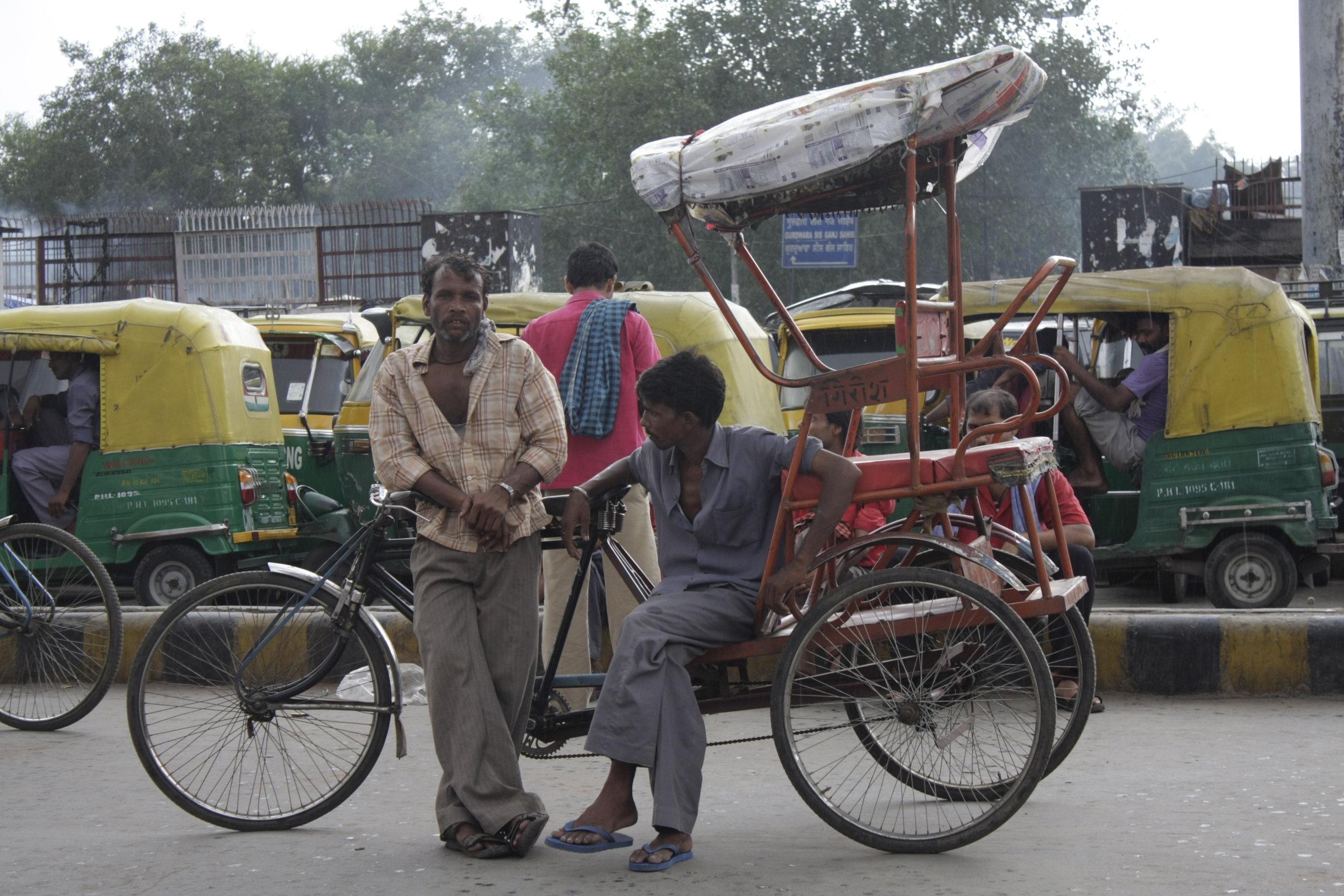 Rickshaw drivers in Old Delhi ( photo by K. Brøndsted )