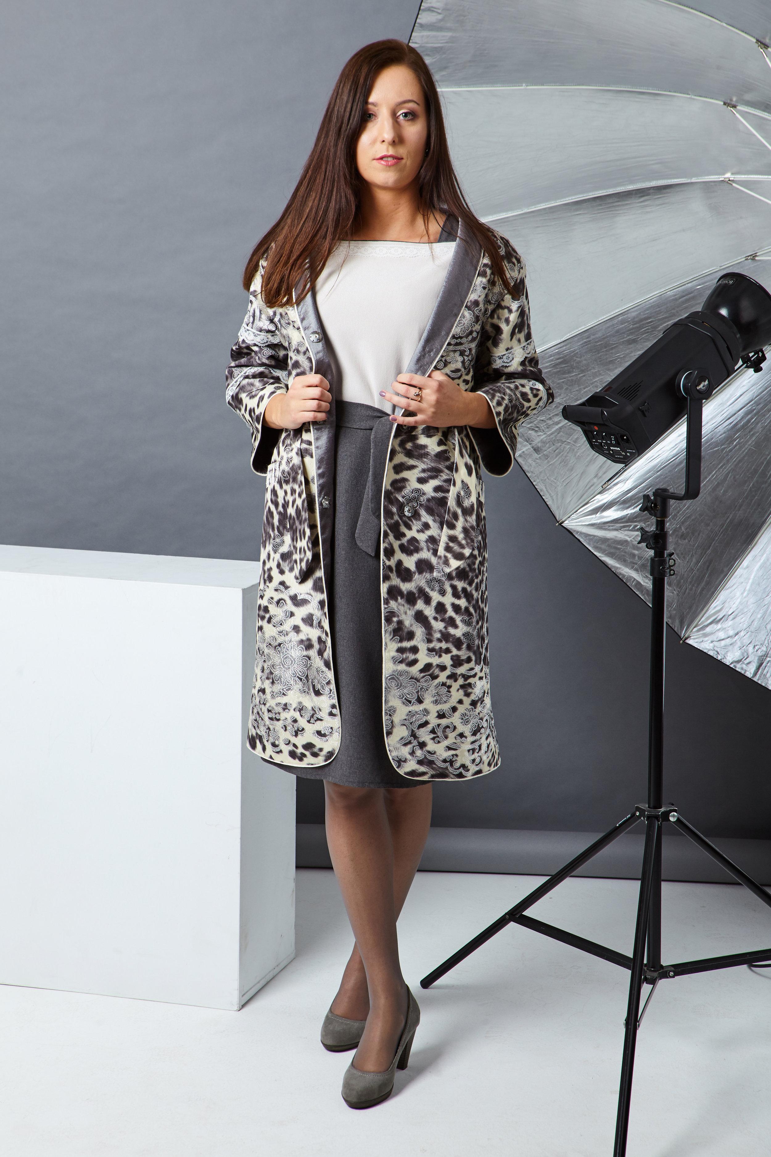 Комплект: пальто + платье