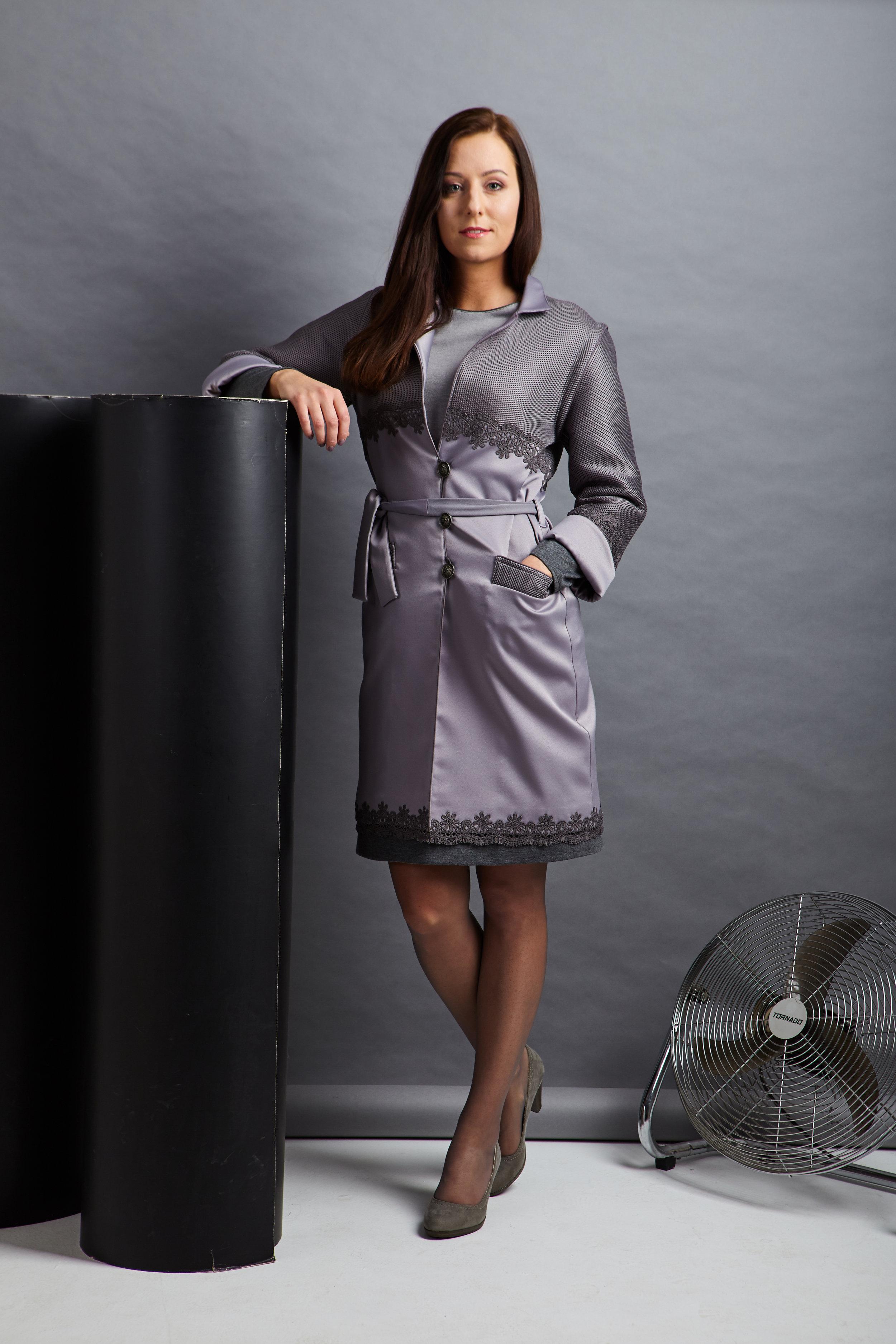 Пальто/жилет из комбинированного материала
