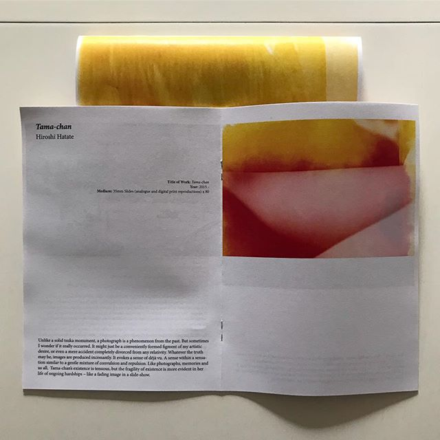 The Tsuka digital catalogue is downloadable from the website and works nicely printed as an A5 on recycled paper. The CCP is open today 12 - 5. www.tsukaproject.com