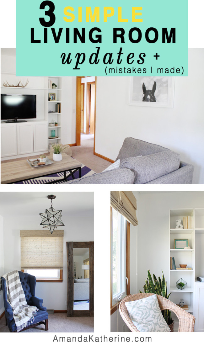3 simple living room updates + mistakes I made