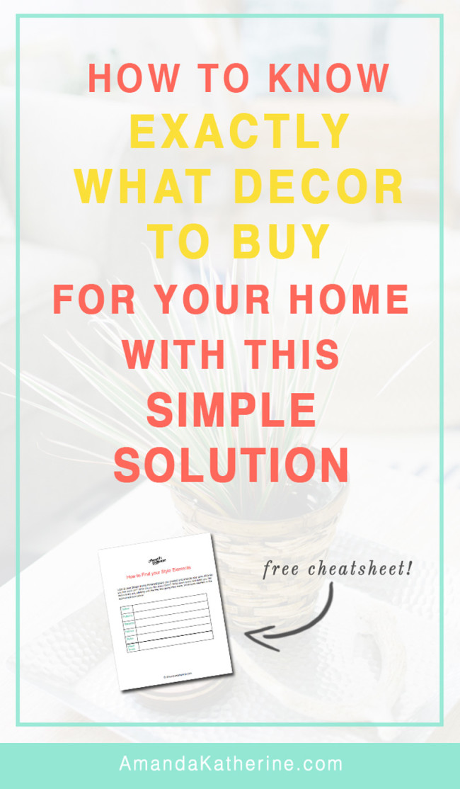 how to know what home decor to buy