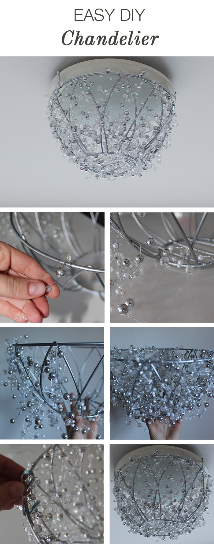 easy diy chandelier project
