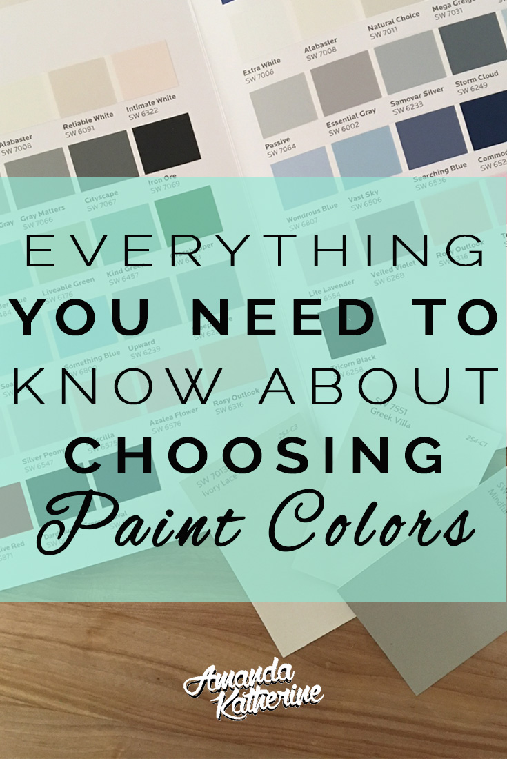 everything you ned to know about choosing paint colors. with so many options it can be hard to know how to choose the right color for your home. read on for 4 tips to choosing the right colors