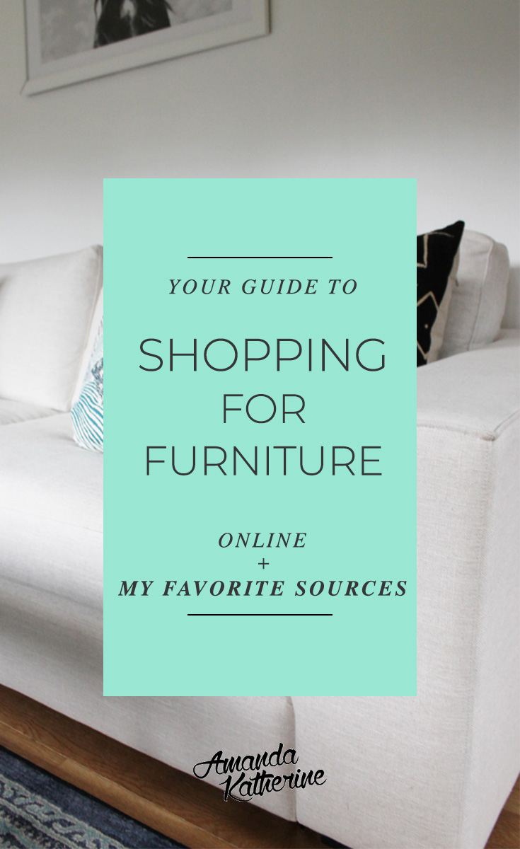 shopping for furniture online can be a little tricky, especially since you can't actually test any of it out yourself first. read my tips on what I always look for when I'm buying online so I know what I'm getting and won't be disappointed once it arrives. Plus, I'm sharing my favorite places to shop for furniture online! Click to read