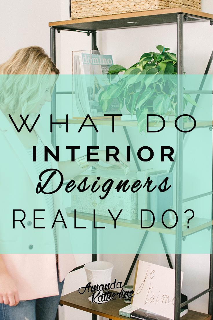 have you considered hiring an interior decorator or designer for a project in your home? Here's the low down on what interior designers really do and how they help you find your style, give decorating ideas, and most of all, help you decorate your home