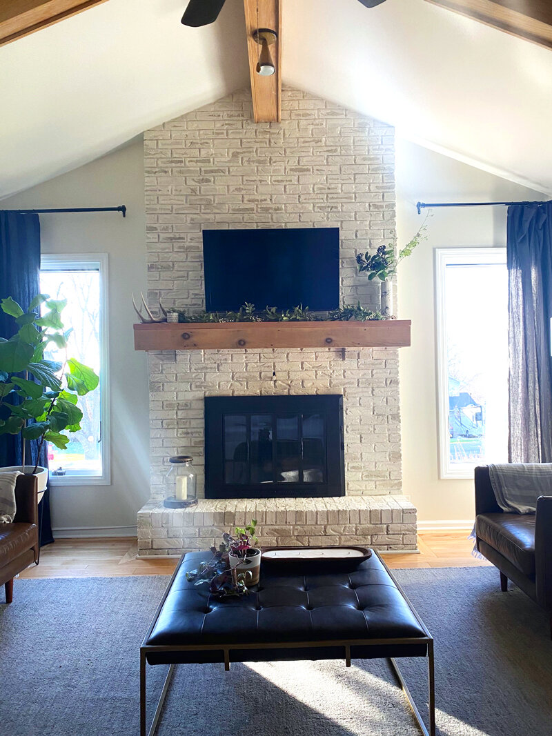 To Mount A Tv Over Brick Fireplace, Can You Mount Tv To Brick Fireplace