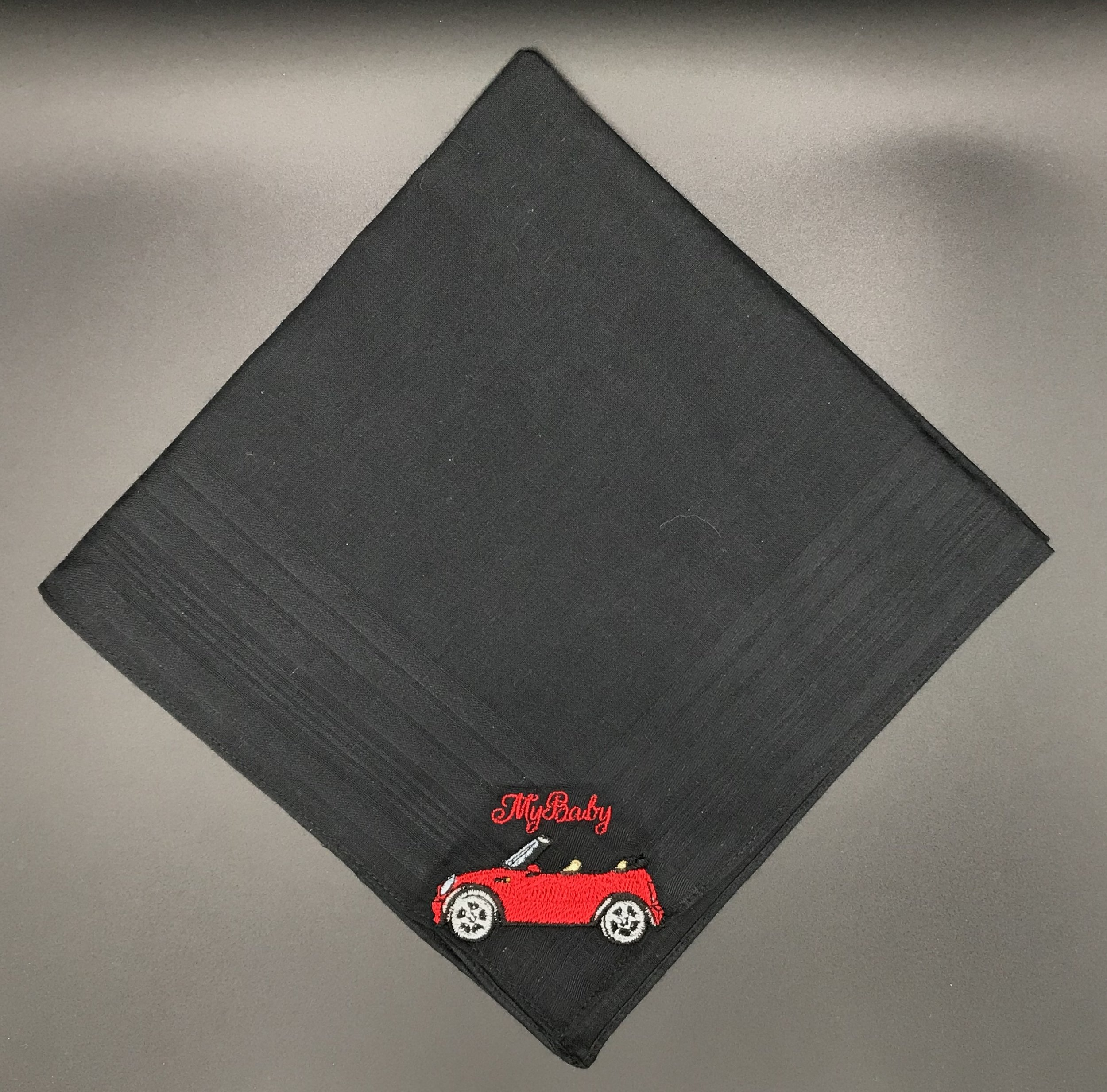 Mini Cooper Convertable Custom Embroidered Handkerchief