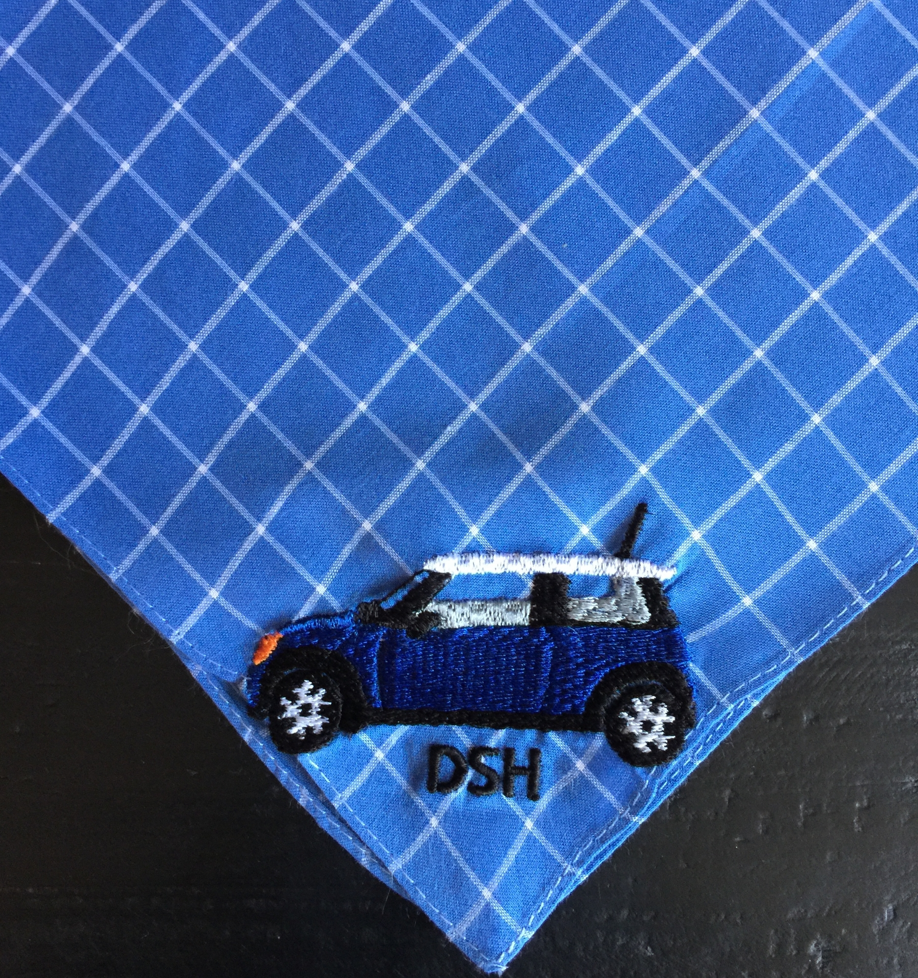 Clubman Mini Cooper Custom Embroidered Handkerchief