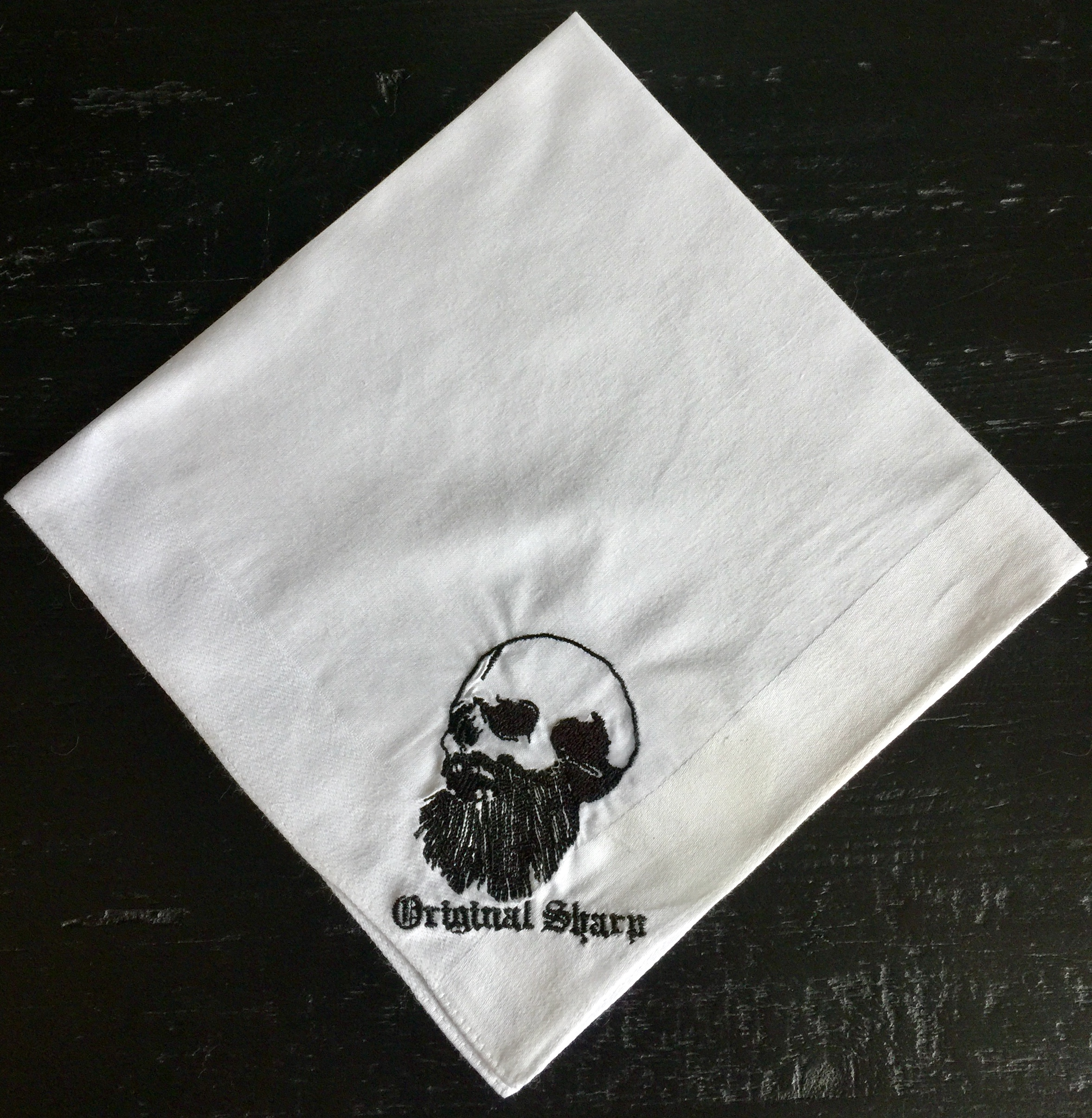 Original Sharp Barbershop Millburn NJ Custom Embroidered Handkerchief