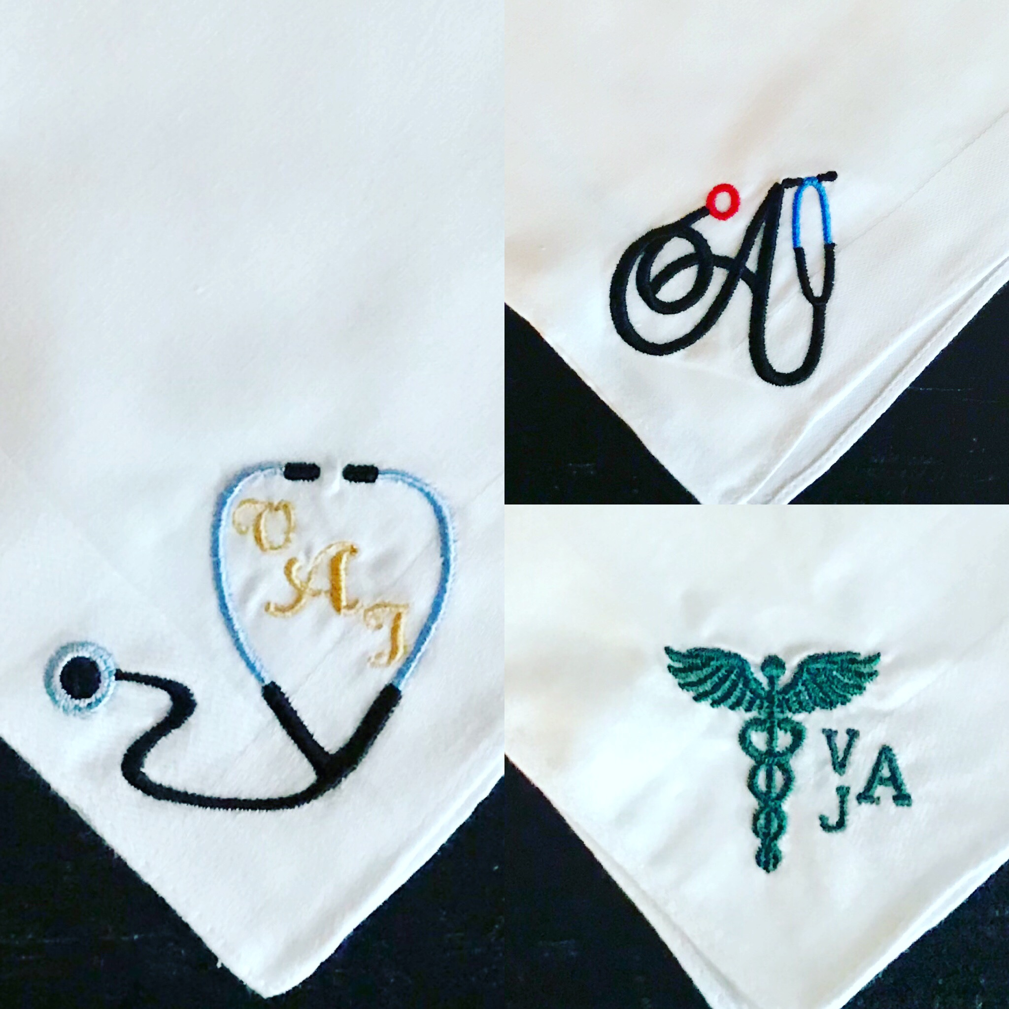 Medical Monogram Handkerchiefs for Physicians.JPG
